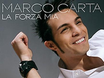 """Marco Carta, foto della copertina dell'album """"La forza mia"""""""