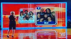 la squadra Blu in testa