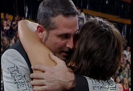 L'abbraccio tra Daniela Stradaioli e Steve Lachance