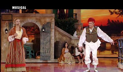 Luca Napolitano nel musical Rugantino