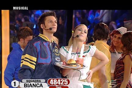 Luca Napolitano e Alice Bellagamba nel musical American Graffiti
