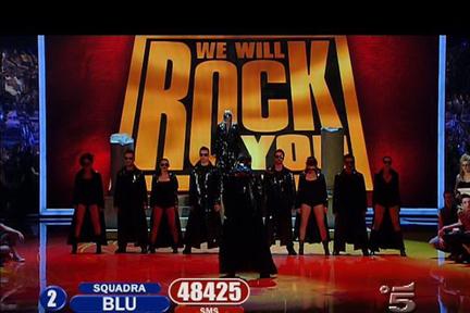 Il musical We will rock you della squadra Blu