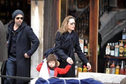 Angelina Jolie e Brad Pitt a Venezia per The Tourist