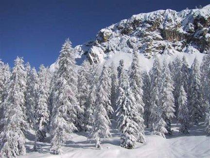 montagna d'inverno