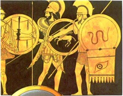 Omero e la mitica citt di troia - Armatura dell immagine del dio ...