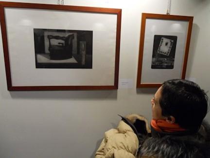Il presidente di Graphiti, Giusppina Mastrovito, alla mostra