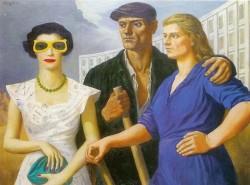 Fangor, una coppia che guarda una donna con occhiali da sole