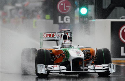 Formula 1 sotto la pioggia