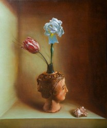 Luciano Longo, Mnemosyne, olio su tela, 2010
