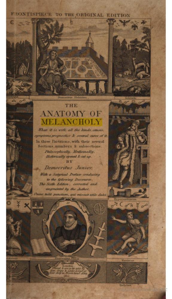 """Biblioanatomia: """"Anatomia della Bibliomania\"""