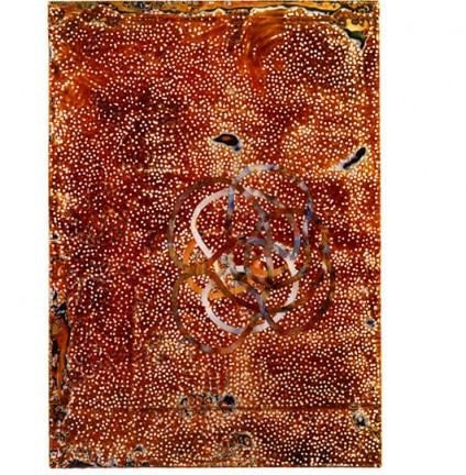 """Dharma 20 GI Akasha"", 184 x 130 x 7 cm, materiali misti e resina, 2006"