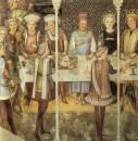 Fratelli Zavattari - Banchetto di nozze cappella di Teodolinda - Duomo di Monza - 1444