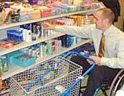 shopping in carrozzina