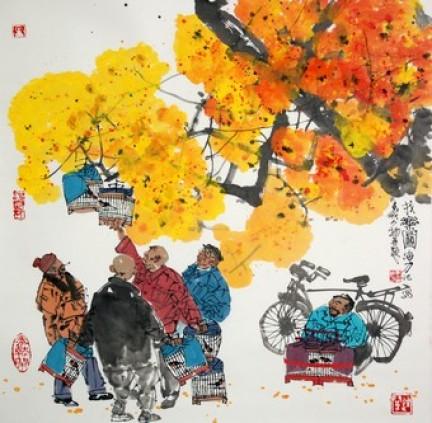 Curiosità Cina, curiosità cinesi, liu niao. Anziani al parco che portano a spasso gli uccelli