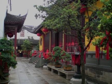 Il tempio del Buddha di Giada, vista su un cortile interno