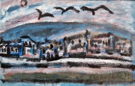 Il treno dipinto di Italo Turri