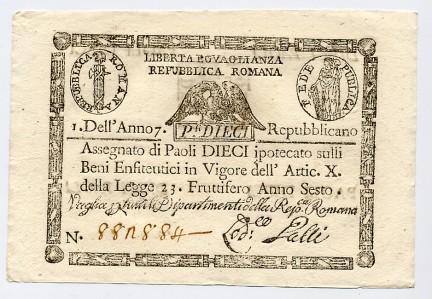 banconota 10 paoli