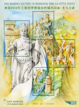 shanghai citta stato san marino francobollo