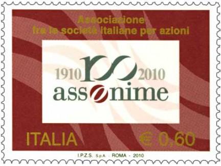 assonime, il francobollo del centenario