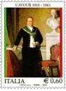 Le celebrazioni filateliche per il conte di Cavour