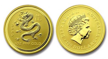 moneta oro dragone australia