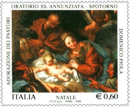 Il francobollo del Natale 2009 delle Poste Italiane