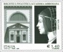 Il francobollo che le poste italiane dedicano alla pinacoteca ambrosiana
