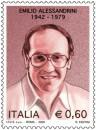 il francobollo e l'annullo dedicati ad emilio alessandrini