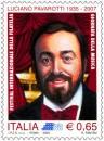 Luciano pavarotti: un francobollo nella giornata della musica