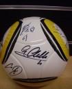 Gli autografi dei calciatori della nazionale sul pallone 2010