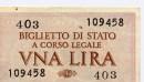 L'ultima emissione della lira di acrta dello stato italiano