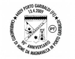 annullo anniversario cambio nome da magnavacca a porto garibaldi