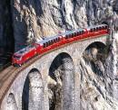 Il francobollo del trenino del Bernina