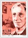 Il francobollo e l'annullo delle poste italiane per Don Luigi Sturzo