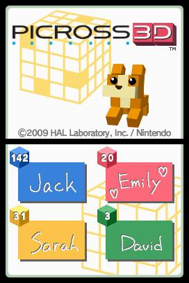 Picross 3D Nintendo DS Recensione