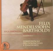 Copertina cd Mendelssohn violoncello e pianoforte