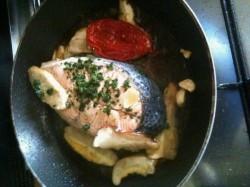 salmone padella