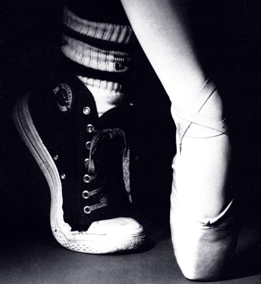Converse and Pointe Shoes