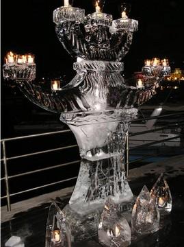 scultura ghiaccio