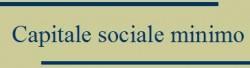 capitale sociale minimo