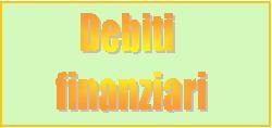 debiti di natura finanziaria