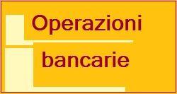 operazioni bancarie