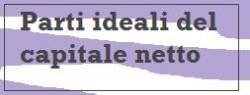 parti ideali del capitale netto