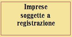 imprese soggette a registrazione