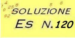 soluzione esercizio n.120