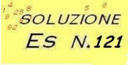 soluzione esercizio di ragioneria n.121