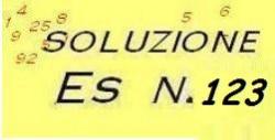 soluzione all'eesrcizio di ragioneria n.123