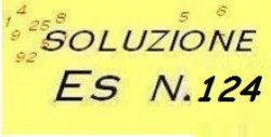 soluzione esercizio di ragioneria n.124