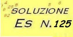 soluzione esercizio n.125