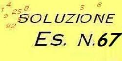 Soluzione esercizio n.67
